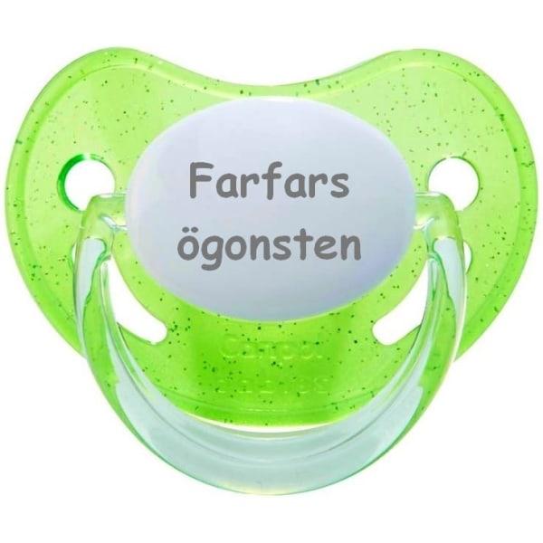 Napp GLITTER, Farfars ögonsten (grön)