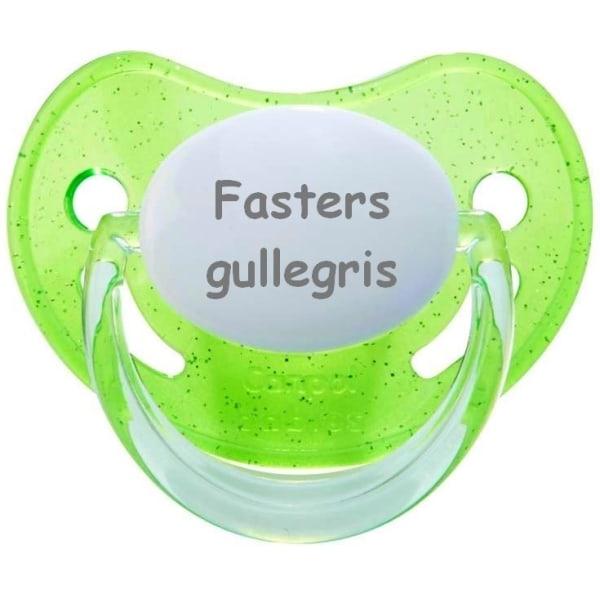 Napp GLITTER, Fasters gullegris (grön)