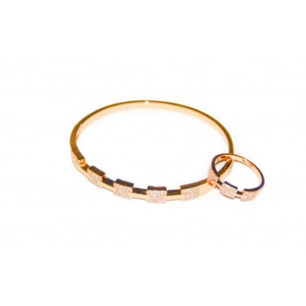 Armband och ring i guld Guld