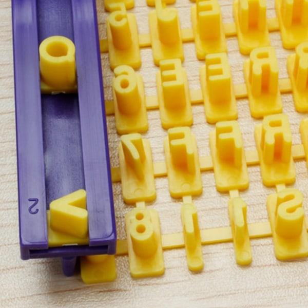 72 Bokstäver Siffror Alfabetet Stämpelset multifärg