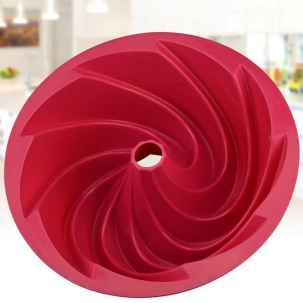 Silikonkakform Spiralform Fondant Cupcake Bakningstillbehör Röd