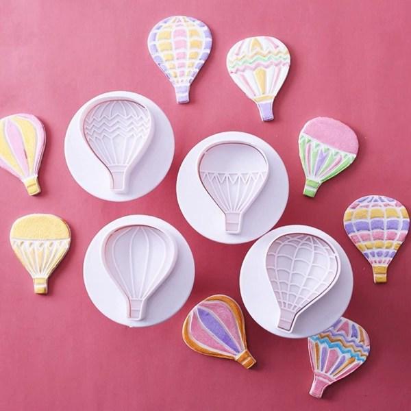 Ballonger + Moln Utstickare Plunger 9 st  multifärg