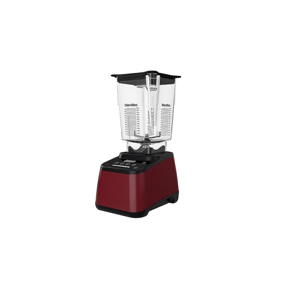 Blendtec Blender Designer 625, Pomegranate red Svart