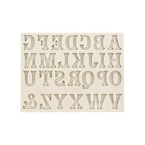 Bokstäver Alfabetet SIlikonform Gjutform Bokstäver Ljusgrön