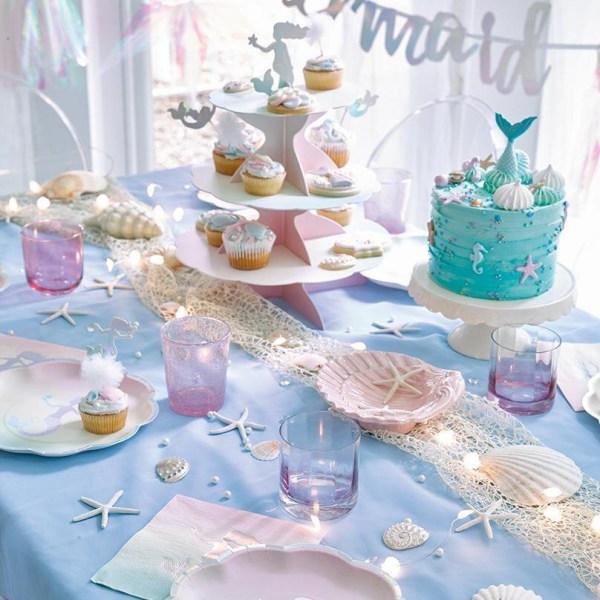 Cake Picks Sjöjungfru - Mermaid Party multifärg