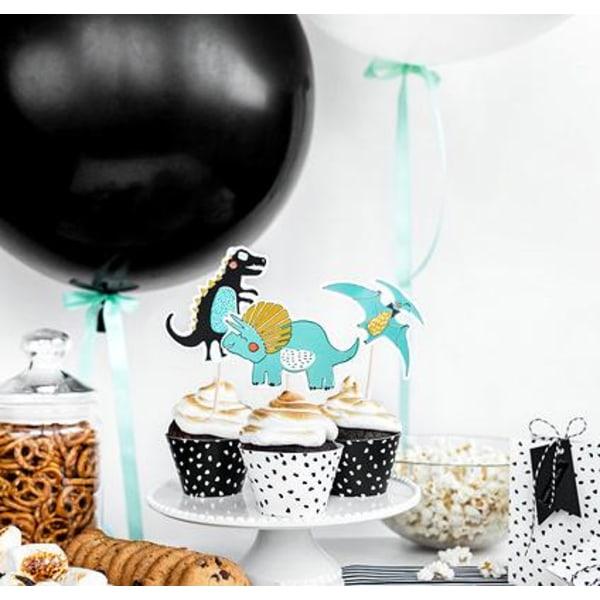 Cake Picks Topper Dinosaurier Blå