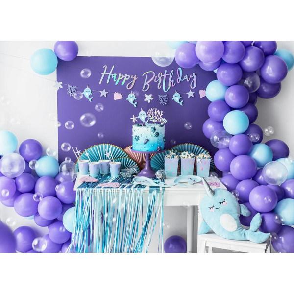 Cake Topper Narwhal Party Havstema Blå