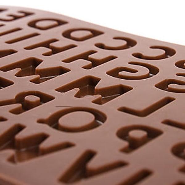 Chokladform i Silikon Bokstäver Alfabetet SIlikonform Pralinform WarmWhite