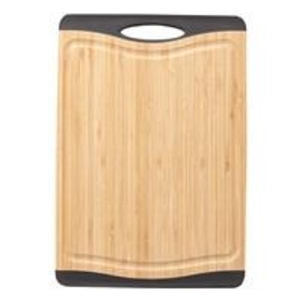 Dorre Cora Skärbräda bambo svarta silikon kanter non-slip 33*23  Brown