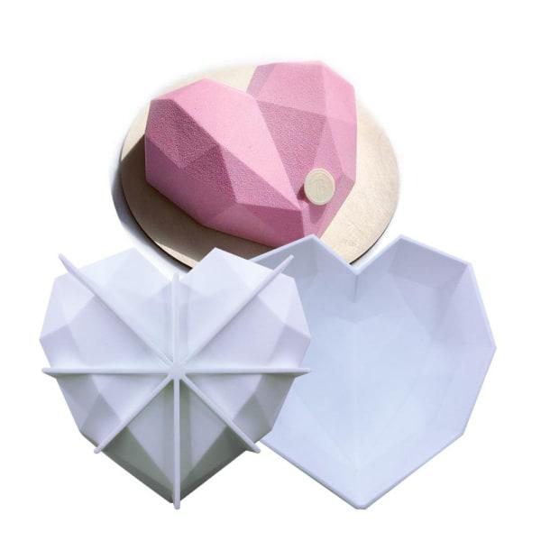 Diamant Hjärta SIlikonform | Mousseform Smash The Heart Vit