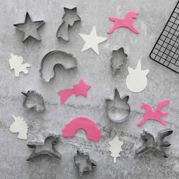 9 st unicorn cookie cutter Silver