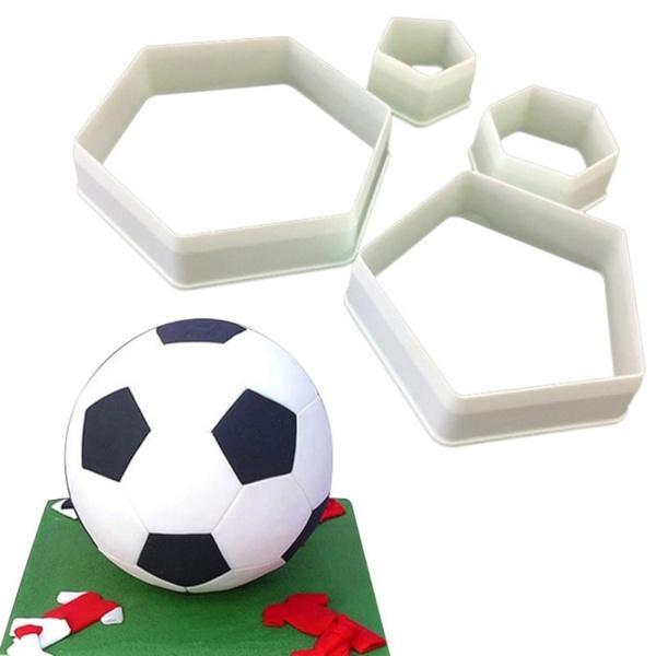 Fotboll Hexagon Utstickare 4st Vit