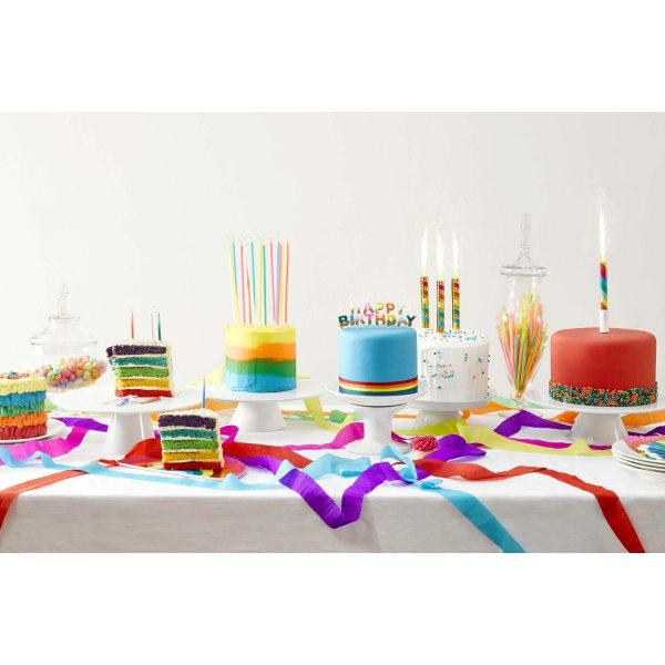 Happy Birthday Tårtljus Regnbåge Glittriga multifärg