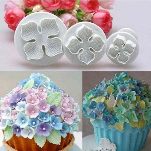Hydrangea Utstickare 3-Pack Blomma Plunger Set  multifärg