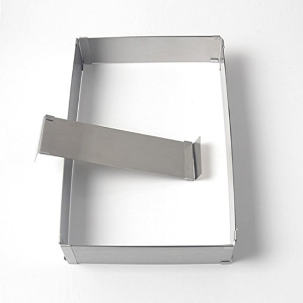 Justerbar Rektangulär Anslagsring Silver