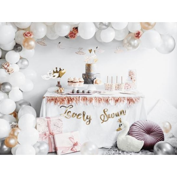Lovely Swan cake toppers, 28.5 cm Guld