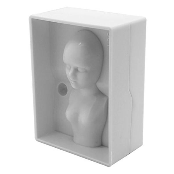 Människokropp 3D Tjej Gjutform Form Vit