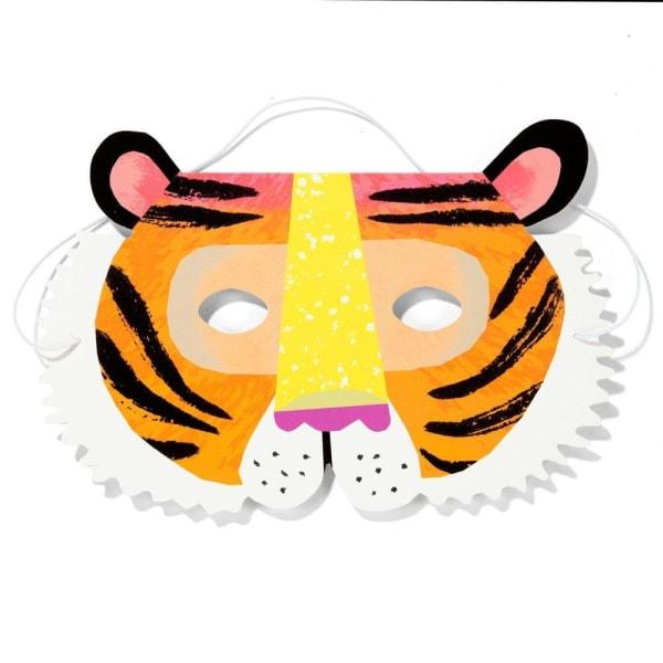 Masker Djur i Papp 8st - Party Animals  MultiColor