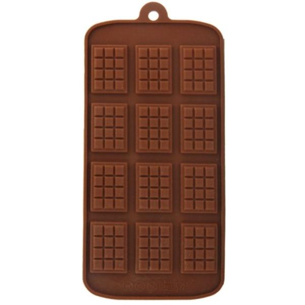 Mini-chokladkaka 12 Bitar Silikonform Chokladform multifärg