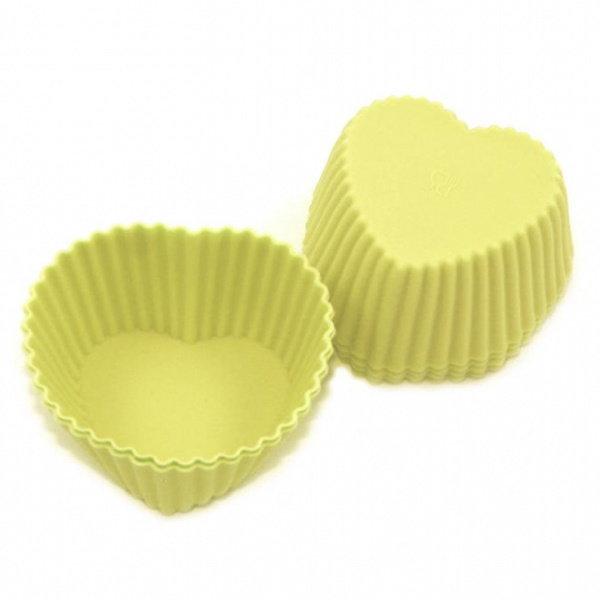 Muffinsformar i Silikon 6-Pack Hjärtan Silikonformar Formar multifärg