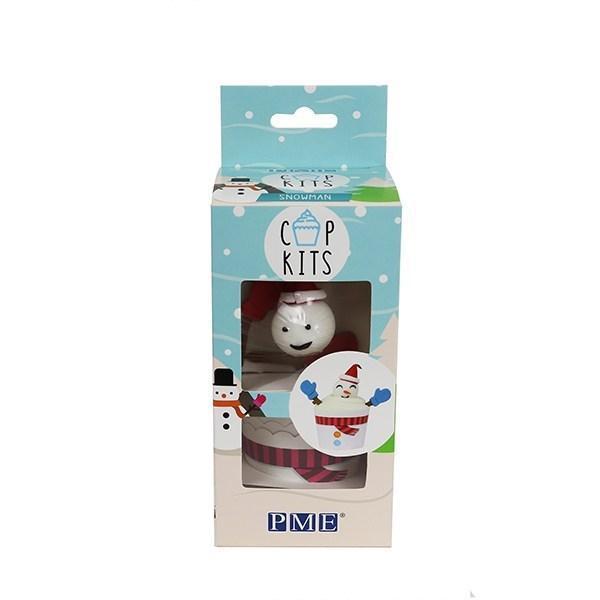 Muffinsformar Vit Snögubbe 6st - PME White