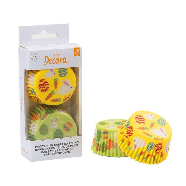 Påsk Muffinsformar Påskägg Påskhare 36st - Decora  multifärg