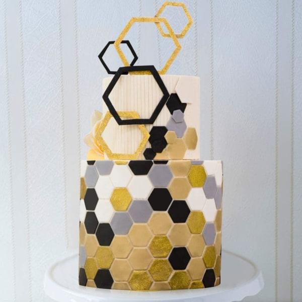 Pussel + Hexagon Tappits 6-Pack Volangstav Utstickare Kant Borde Transparent
