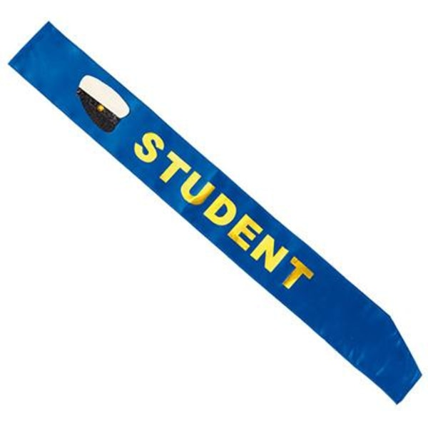 Sash Student Blå