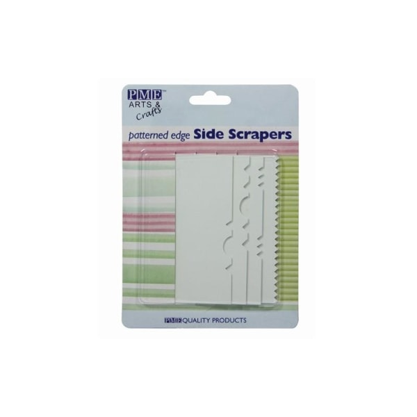 Side Scrapers, Mönstrade 4-Pack - PME Vit