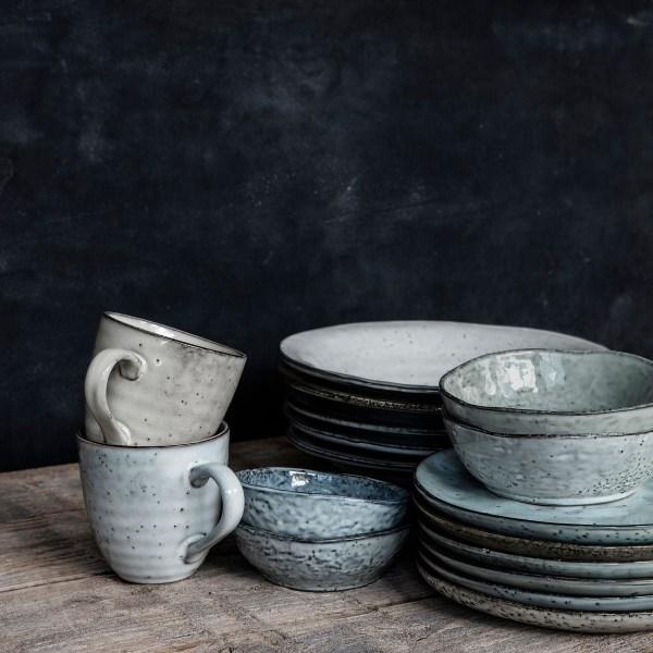 Skål, Rustic, Grå/Blå Stengods 11.5cm - House Doctor grå