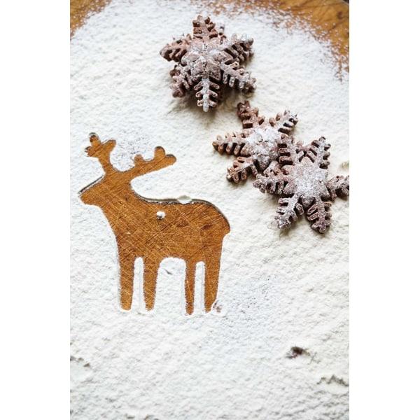 Snöflingor Utstickare Plunger 3 st Vit