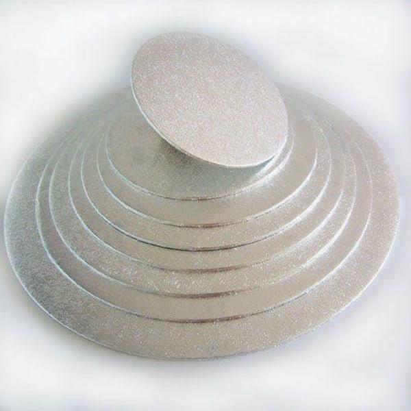 Tårtbricka Mini Rund Silver 12.7 cm - FunCakes  Silver