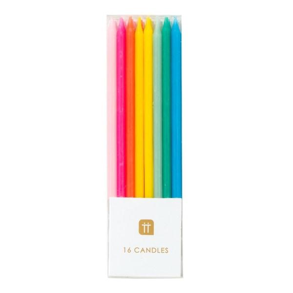 Tårtljus Regnbågsfärgade Birthday Brights Rainbow multifärg