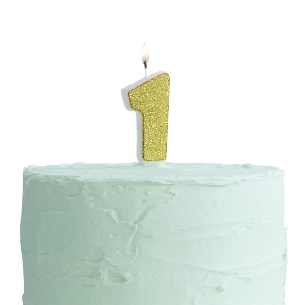 Tårtljus Siffra 1 multifärg