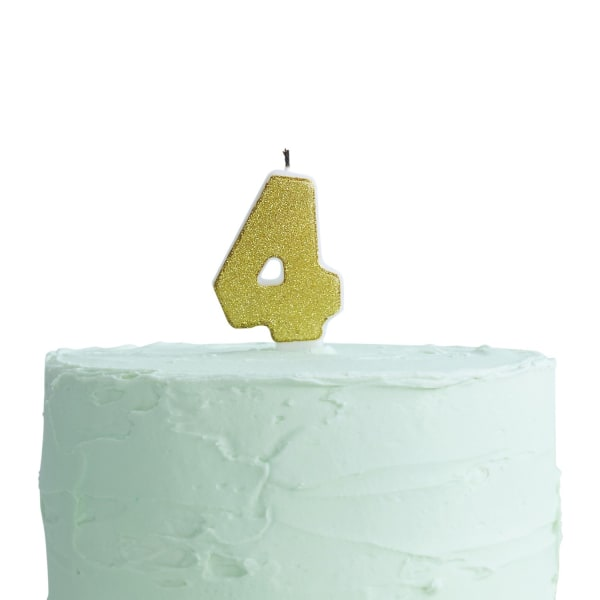 Tårtljus Siffra 4 multifärg