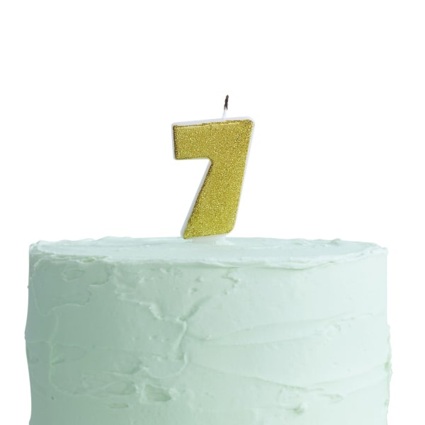 Tårtljus Siffra 7 Brun