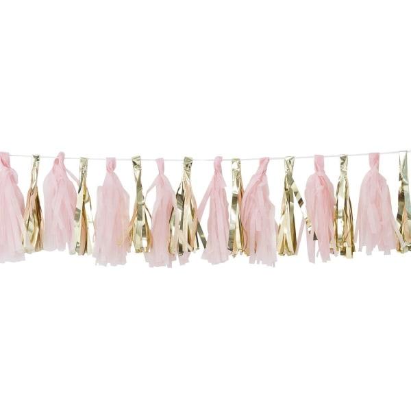 Tasselgirlang - Pink & Gold multifärg