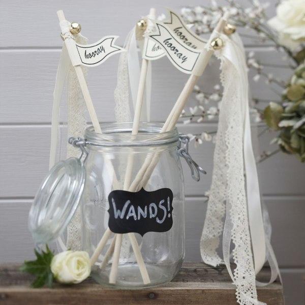 Via Trollspön Bröllop - Wedding Wands Hooray Vit