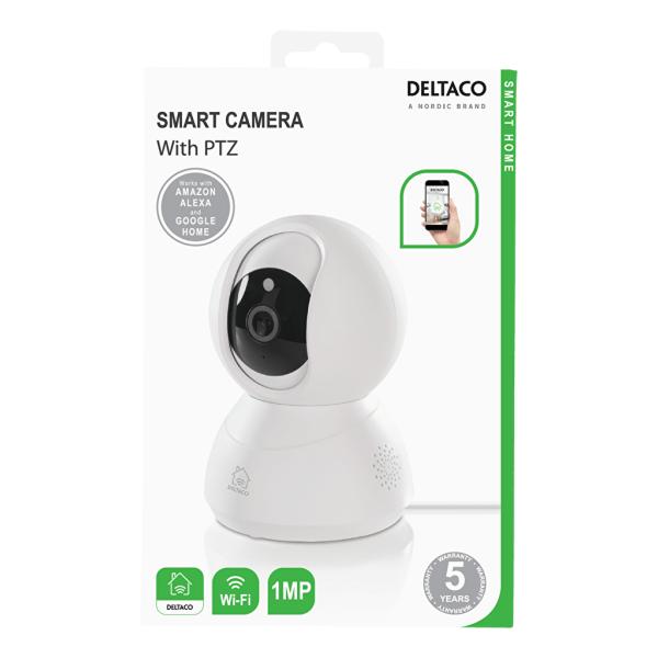 DELTACO SMART HOME nätverkskamera för inomhusbruk, PTZ, 720p, Wi