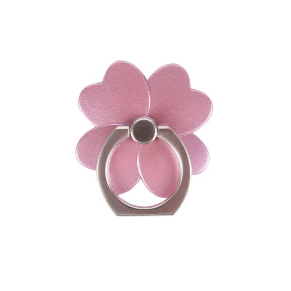 GEAR MobilRing Blomma Rosa Matt Roterande Fingerhållare med Stäl