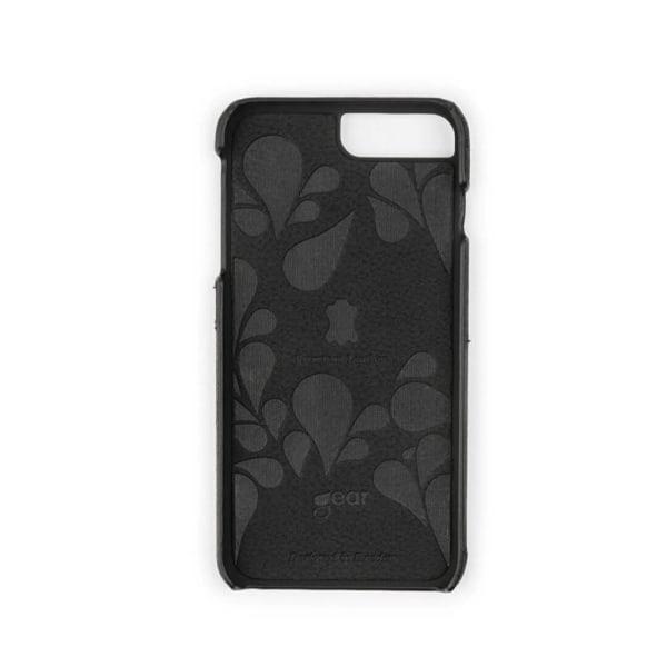 GEAR Mobilskal Onsala Skinn Svart med Kortfack iPhone 6/7/8 Plus