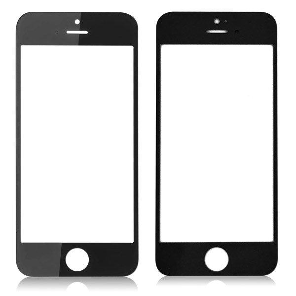 iPhone 5/5S/5C Glaslins med tejp - Svart
