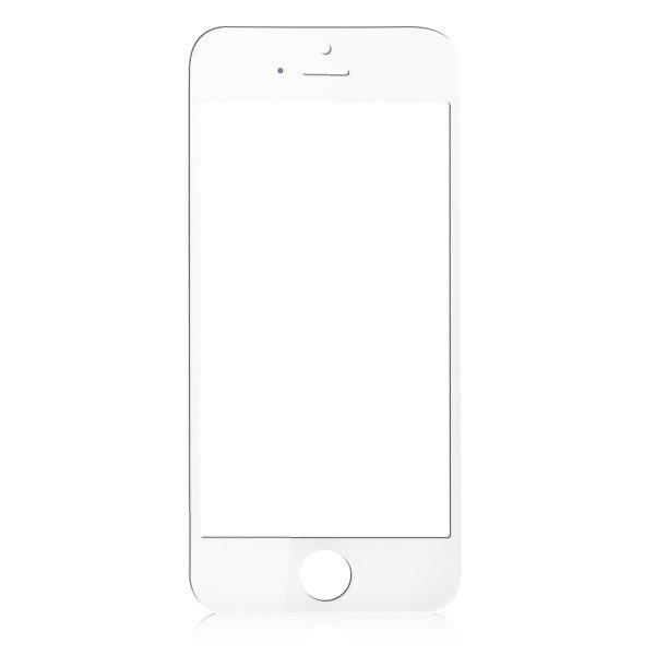 iPhone 5/5S/5C Glaslins med tejp - Vit