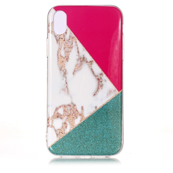 Marmorskal med tre marmormönster till iPhone XS