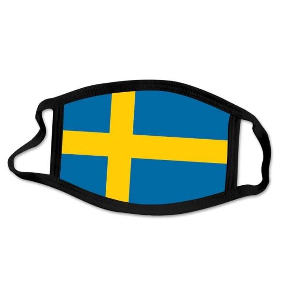 Tvättbar munskydd i Tyg i olika mönster - 3 lager (Sverige)