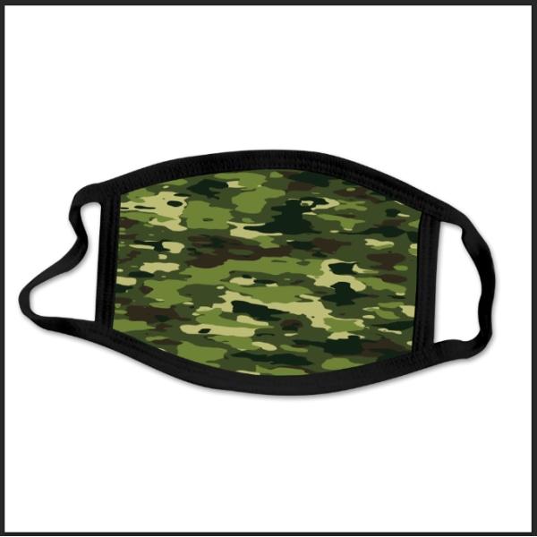 Tvättbar munskydd i Tyg i olika mönster - 3 lager (Huggtänder)