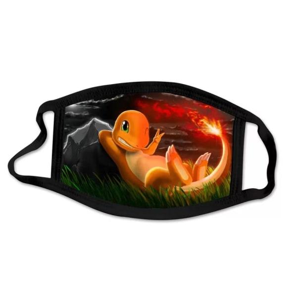 Tvättbar munskydd i Tyg - Pokémon - 3 lager (Charmander)