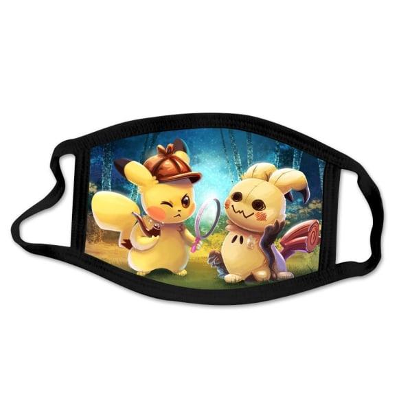 Tvättbar munskydd i Tyg - Pokémon - 3 lager (Pikachu/Mimikyu)