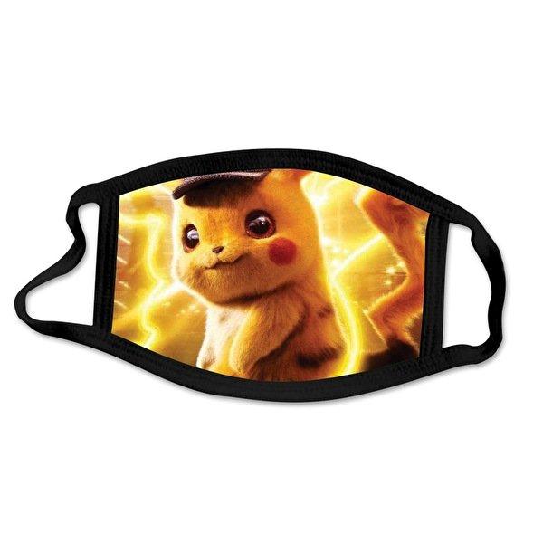 Tvättbar munskydd i Tyg - Pokémon - 3 lager (Detective Pikachu)
