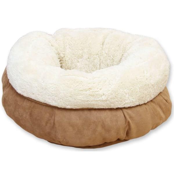 afp Hund-/kattsäng lammull donutformad brun Brun